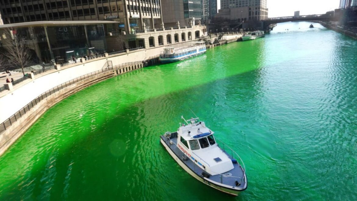 Chicago River dyed green for St. Patrick's Day in surprise move from the city