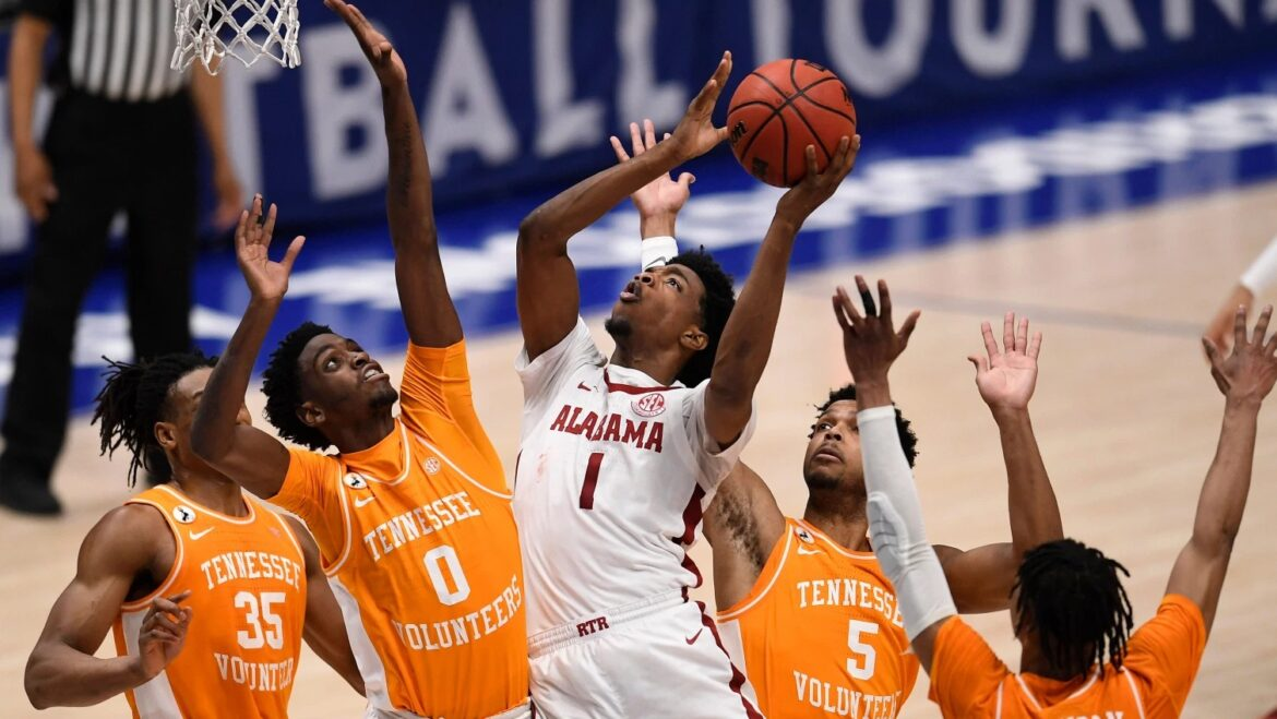 Down 15, No. 6 Alabama rallies past Tennessee in SEC semis